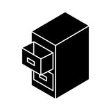 Document filing cabinet isometric. Vector illustration design Stock Image