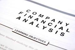 Document financier Images stock