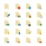 Document Flat Icons color Royalty Free Stock Image
