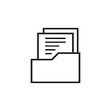 Document flat vector icon. Archive data file symbol logo. Illustration Stock Image