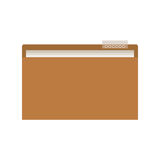 Document folder icon. Over white background. vector illustration Royalty Free Stock Image