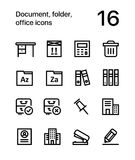 Document, folder, office icons for web and mobile design pack 3 Royalty Free Stock Image