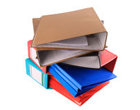 DOCUMENT FOLDERS Royalty Free Stock Photos