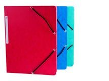 Document Folders on White Background. Document Folders different colors on White Background Stock Image