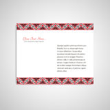Document form in ukrainian style Royalty Free Stock Photography