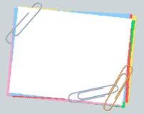 Document, geïsoleerdez paperclippen, Stock Foto