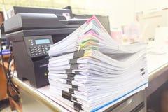 Document gestapelde documenten royalty-vrije stock foto's