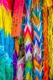 Document gevouwen kranen bij Atoombom Herdenkingshoop Royalty-vrije Stock Foto