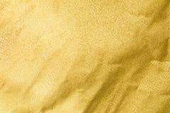 Document gouden Textuur als achtergrond Stock Afbeelding