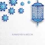 Document grafisch van Islamitische lantaarn en sterren stock illustratie
