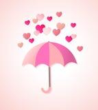 Document harten en paraplu vector illustratie