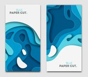 Document het concept van het besnoeiingsontwerp voor vliegers, presentaties en affiches Vector abstract het snijden art. Witte en stock illustratie