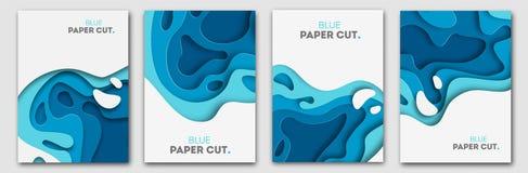 Document het concept van het besnoeiingsontwerp voor vliegers, presentaties en affiches Vector abstract het snijden art. Witte en royalty-vrije illustratie