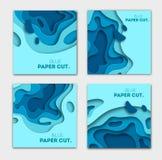 Document het concept van het besnoeiingsontwerp voor vliegers, presentaties en affiches Vector abstract het snijden art. Witte en vector illustratie