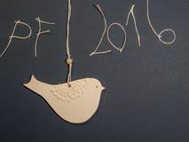 Document het thema van de vogelprentbriefkaar Vector Illustratie