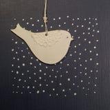 Document het thema van de vogelprentbriefkaar Royalty-vrije Stock Foto