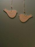 Document het thema van de vogelprentbriefkaar Stock Afbeeldingen