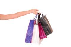 Document het winkelen zakken Stock Foto's