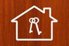Document huis met binnen sleutels Abstract conceptueel beeld Royalty-vrije Stock Fotografie