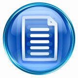Document icon blue Stock Image