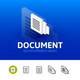 Document icon in different style Stock Images