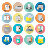 Document Icon Flat Stock Images