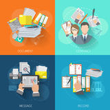Document Icon Flat Royalty Free Stock Photos