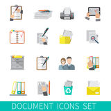 Document Icon Flat Royalty Free Stock Photo