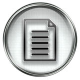 Document icon grey Stock Photography