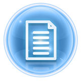 Document icon ice Stock Images