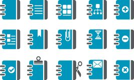 Document Icon Set Stock Photos