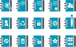 Document Icon Set Stock Photography