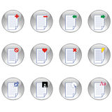 Document icon set Royalty Free Stock Images
