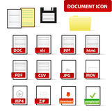 Document Icon Set for Business and Education Professional Stock Images