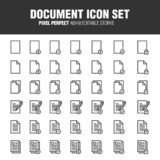 DOCUMENT ICON SET stock illustration