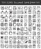Document icon set hand drawn vector line art cute illustration Royalty Free Stock Photography