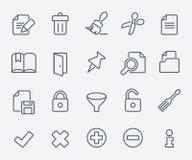 Document icon set Stock Images