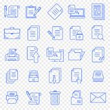 Document Icon set. 25 Vector Icons Pack royalty free illustration
