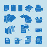 Document icon set Royalty Free Stock Image