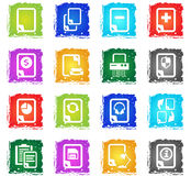 Document icon set Royalty Free Stock Photography