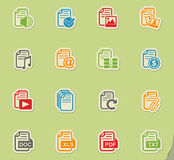 Document icon set Stock Images