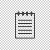 Document icon vector flat illustration. Isolated documents symbo. L. Paper page graphic design pictogram Royalty Free Stock Images