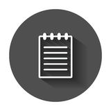 Document icon vector flat illustration. Royalty Free Stock Photography
