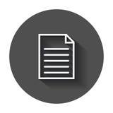 Document icon vector flat illustration. Stock Photography
