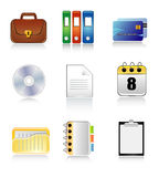Document icons. Vector illustration of document icons Royalty Free Stock Image