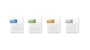 Document icons. This is file icon set Royalty Free Stock Photos