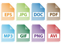 Document icons. Illustration for the web Royalty Free Stock Photography