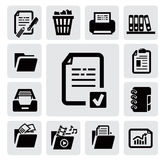 Document icons Stock Photos