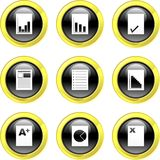Document icons Stock Photos