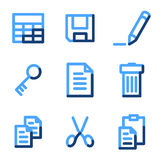 Document icons. Vector web icons, blue contour series